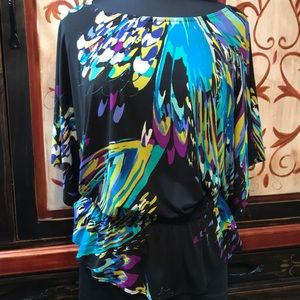 Tops - Jon Den colorful Blouse with elastic at the waist